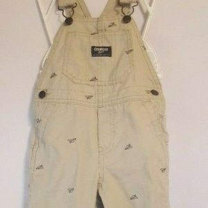 OshKosh Overalls Paper Airplane Embroidered 24M